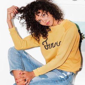 FRAME Women's Yellow Old School Sweatshirt Sz.S